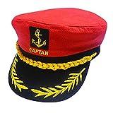 Gorra capitán hombres mujeres negro blanco -...