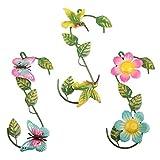 YiYa 3 Piezas Metal Flor Mariposa y Pájaro del...