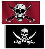 rhungift Paquete de 2 Banderas Piratas de Sangre...