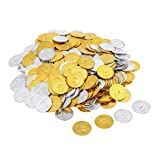 Toygogo 300 Unids Juego Chips Decoraciones Pirate Gold Play Party Favors Pinata Money Coin