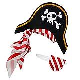 Sombrero pirata Parche en el ojo para niños...