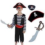 Sincere Party Disfraz infantil de pirata con...