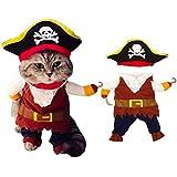 YUESEN Perro Ropa Piratas Disfraz Perro Piratas...