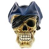 Objetos Decoracion Modernos Cráneo Pirata Gótico Prop Viking Skull Head Triángulo Sombrero Estatua Realista Modelo De Calavera Pirata Decoración De Halloween