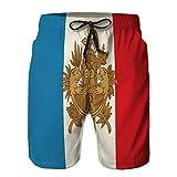Pantalones Cortos de Playa de Secado rápido para Hombres más nuevos con Escudo de Armas y Bandera franceses