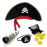 papapanda Sombrero de Pirata con Parche telescopio...