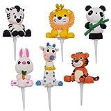 6PCS Decoraciones para Pasteles, JPYZ Animal...