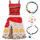 Jurebecia Disfraces De Niñas Moana Vestido de...