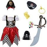 Sincere Party Disfraz de pirata para niñas Pirata...