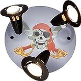 elobra–Lámpara de techo pirata, madera, negro, a + +