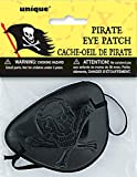 Unique Party Parche de Pirata, Accesorio de Fiesta, Color Negro, Unica (12728)
