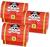 Fiesta Pirata Cajas para Detalles, pack de 8, llenar con pirata gifts para toma hogar