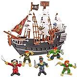 THE TWIDDLERS Barco Pirata con Figuras - Regalo...