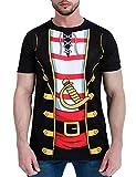 COSAVOROCK Disfraz de Pirata para Hombre Camiseta...