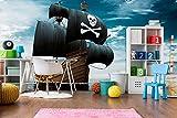 Fotomural Vinilo Pared Barco Pirata Realista | Fotomural para Paredes | Mural | Vinilo Decorativo | Varias Medidas 100 x 70 cm | Decoración comedores, Salones, Habitaciones.
