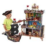 KidKraft- Juego de madera para niños con barco pirata y figuras de acción incluidas, Pirate's Cove (63284) , color/modelo surtido
