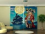 Wellmira Visillo fotográfico de 245 x 290 cm, diseño de pirata