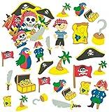 Baker Ross Pegatinas de Piratas Hechas de Espuma...