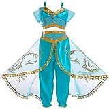 JK Disfraz de Princesa Jasmine con Lentejuelas...