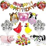 KATELUO Animales de Granja Fiesta de Cumpleaños...