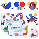 Tangram Madera Niños, Montessori Puzzle Madera,...