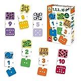 Diset- 1, 2, 3… 10 Juego Educativo, Multicolor...