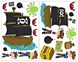 19 piezas pirata Set con barco pirata/pegatina de pared Mapa del tesoro 2x 16x26cm