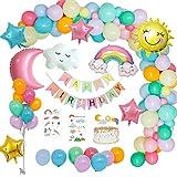 MMTX Decoraciones fiesta Cumpleaños Pastel, Feliz...