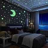 Luminoso Pegatinas de Pared Yosemy Luna y...