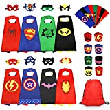 Jojoin 8Pcs Capas de Superhéroes para Niños, Capas de Disfraces de Superhéroes, Conjunto de 8 Capas, 8 Máscaras, 8 Pulseras, 8 Cinturones, Regalo Juguete de Cumpleaños, Fiestas, Navidad o Carnaval