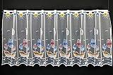 Cortina de Media Altura de los niños del Barco Pirata Altura 60 cm | Ancho de la Cortina Seleccionable por la cantidad comprada en Pasos de 24,5 cm | Color: Blanco con Colorido | Cortinas Cocina