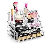Display4top Caja acrílica Estante de maquillajes...
