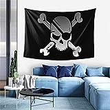 FUYANGOK Tapiz con diseño de calavera y huesos piratas para colgar en la pared, 152,4 x 101,6 cm, decoración del hogar, 152,4 x 101,6 cm