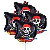 Toyandona - Globos de Mylar de barco pirata de 66 cm – decoraciones de fiesta de cumpleaños para niños, paquete de 2