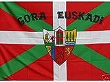 Grand Bandera de Pais Vasco Gora Euskadi 150*90 cm Satén Durabol .