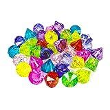 YIJIAOYUN 40 Unids Partido Multi Color Favores Grandes Joyas de Acrílico Diamante Pirata Joyas Artificiales Tesoro para la Decoración del Hogar