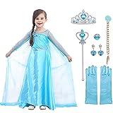 URAQT Disfraz de Princesa Elsa, Traje del Vestido...