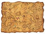 Beistle Treasure Maps-1 Pc Mapa del Tesoro de...