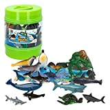 ColorBaby - Bote con animales marinos Animal World, 21 piezas (43436)