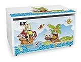 LEOMARK Blanco Caja de madera banco XXL con...