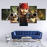 ZDDBD Pintura en Lienzo Piratas del Caribe, 5...