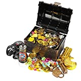 Ulikey Monedas de Oro Juguete Pirata Niños,...