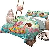 DayDayFun Juego de edredón con sábanas, colchas...