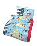 Träumschön Piratas Ropa de cama 135 x 200 cm, diseño de piratas 100% algodón, ropa de cama de 135 x 200 cm y funda de almohada de 80 x 80 cm, 2 piezas