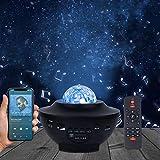 Proyector de Luz Estelar Lámpara Proyector Estrellas con Control Remoto y Altavoz Bluetooth para Decoración de fiestas de Habitación de Niños y Adulto
