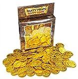 Brynnberg - Regalitos para Fiesta - Monedas del Tesoro de Plástico Oro - Paquete de 150