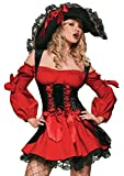 Leg Avenue- Mujer, Color rojo y negro, XL (EUR...