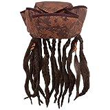 Caribbean Jack Sparrow Fancy Dress Hat With Hair &...