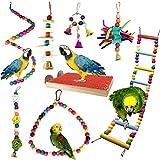 PietyPet Juguetes para Pájaros, 8 Piezas Perchas...
