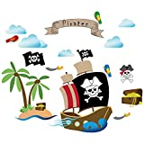decalmile Barco Pirata Pegatinas de Pared...